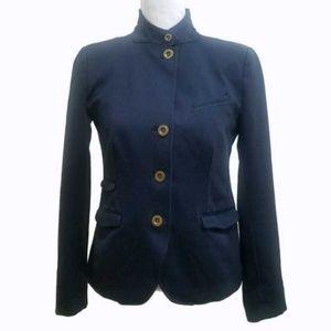 Gap Navy Blue Military Style Crop Blazer Sz 4
